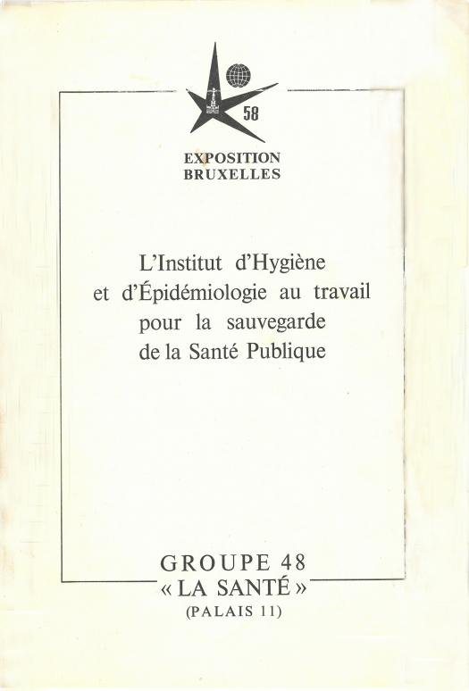 Infobrochure IHE voor Expo 58