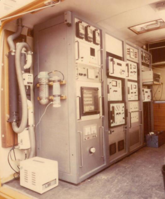 Appareil de mesure mobile pour le dioxyde de soufre et la fumée (vers 1970, ©archives Sciensano)